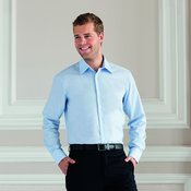 Long sleeved easycare tailored Oxford shirt