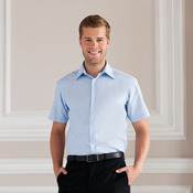 Short sleeved easycare tailored Oxford shirt