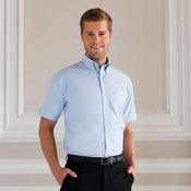 Short sleeve easycare Oxford shirt