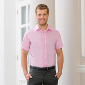 Short sleeve tailored ultimate non-iron shirt