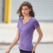 Anvil women's sheer v-neck tee