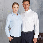 Long sleeve easycare Oxford