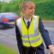 Junior safeguard high-viz vest EN1150 Class 2 approved