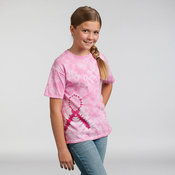 Kids pink ribbon T