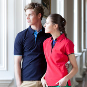 Women's contrast piqué polo shirt