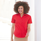 Lady-fit poplin short sleeve shirt
