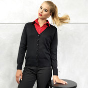 Women's button-through knitted cardigan